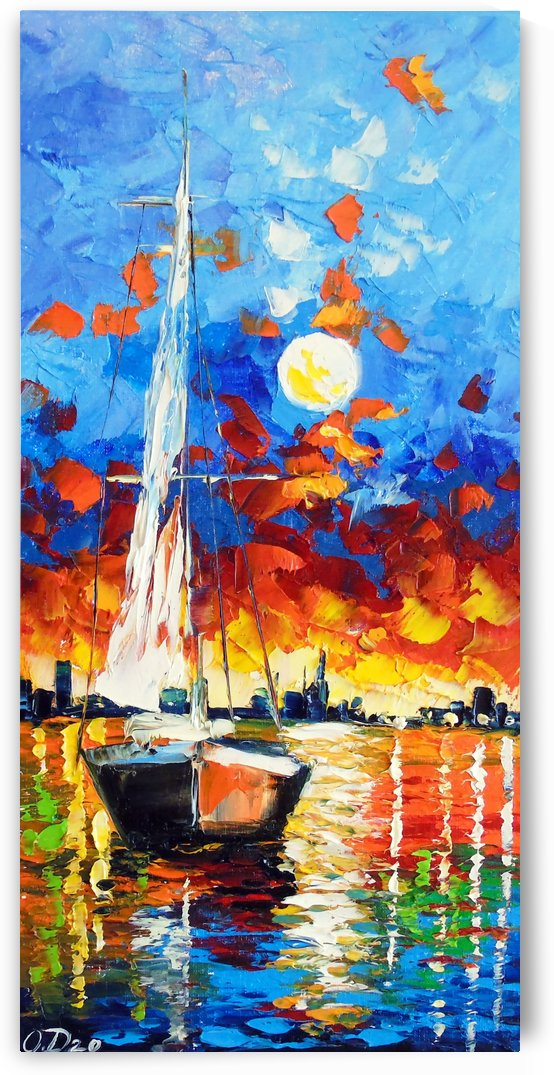 Evening sailboat by Olha Darchuk