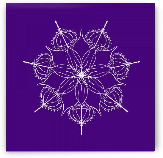 blue flower mandala by Chino20