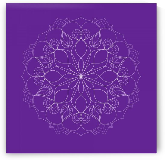 dark purple mandala by Chino20