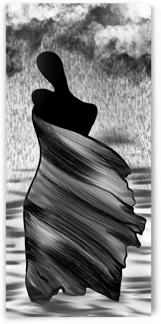 Women in rain by BrilliantBrushes