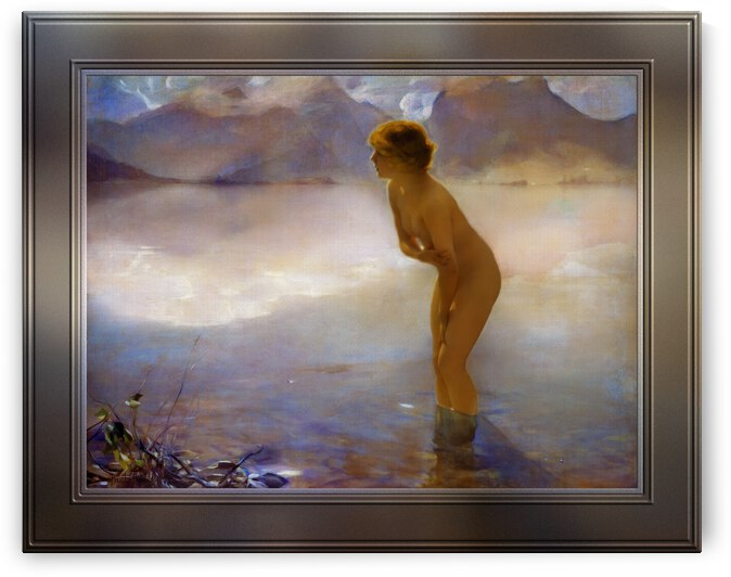 September Morn by Paul Emile Joseph Chabas Old Masters Fine Art Reproduction by xzendor7