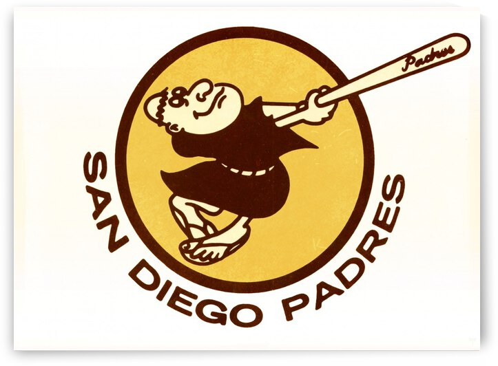 1980 san diego padres logo wall art by Row One Brand