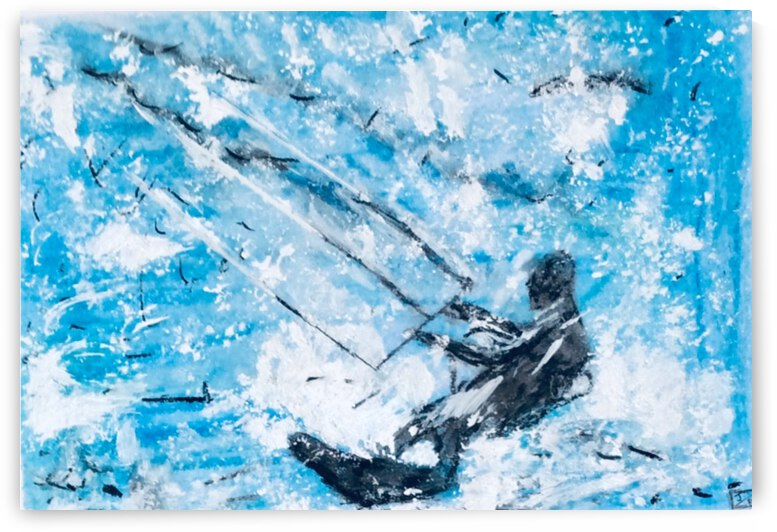 kite Surfer in the groove  by Zaramar Paintings