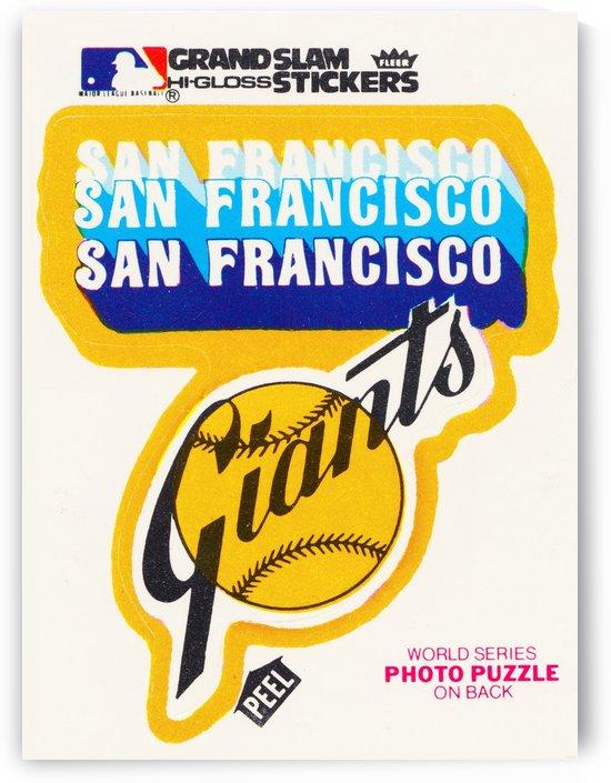 1979 fleer hi gloss san francisco giants sticker poster by Row One Brand