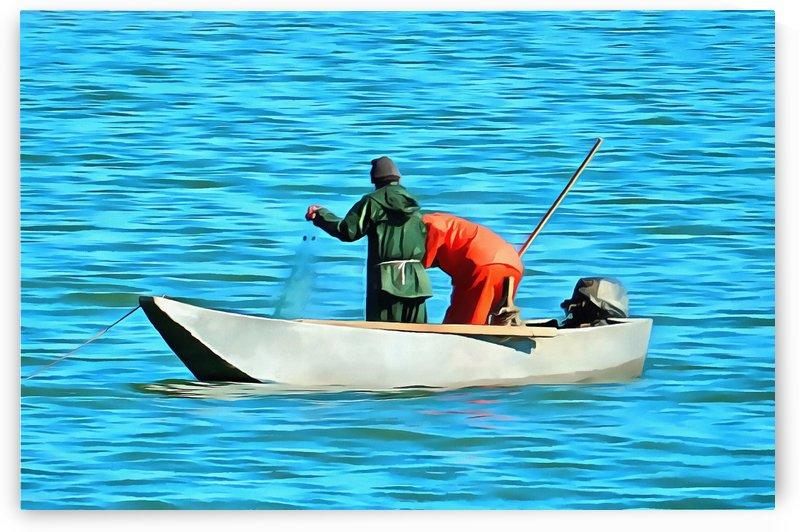 Fishermen on Lake Trasimeno by Dorothy Berry-Lound