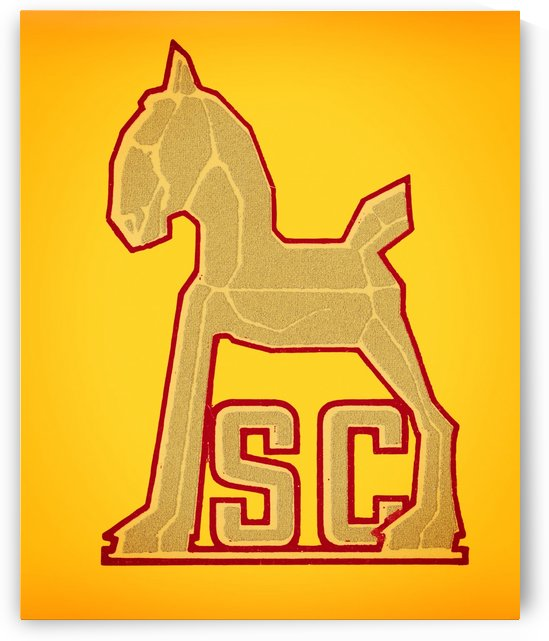vintage sc trojan horse college mascot wall art by Row One Brand