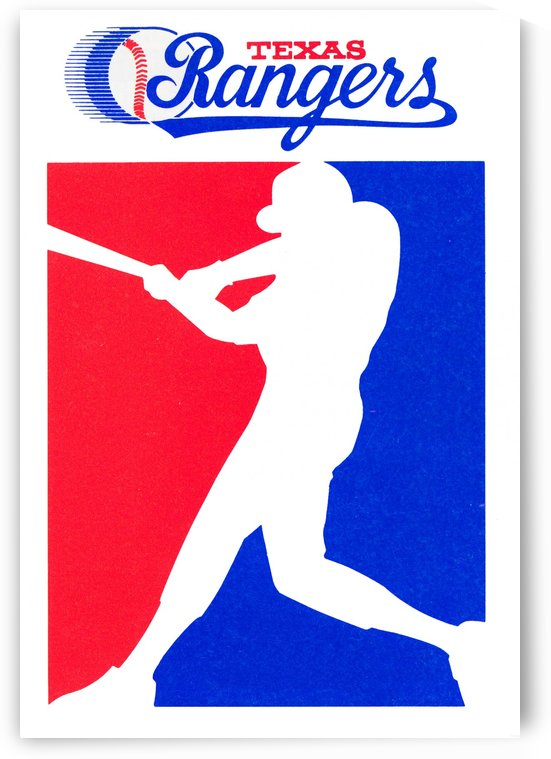 1987 texas rangers baseball poster sports artwork reproduction by Row One Brand