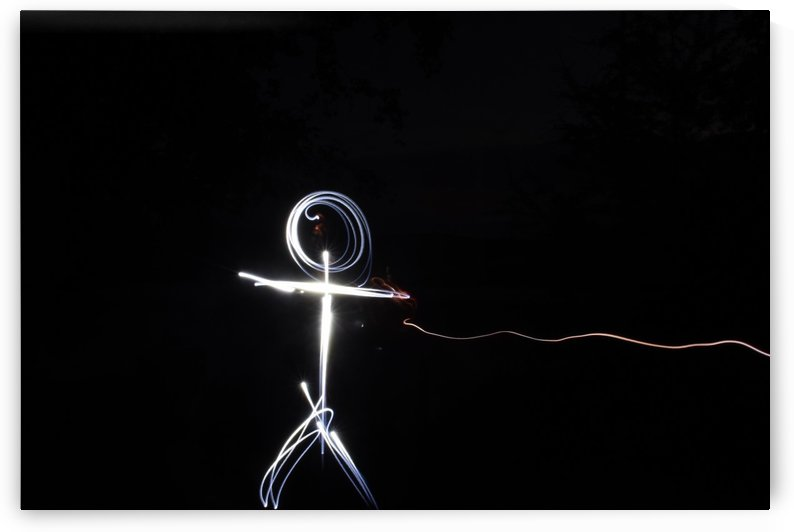 light stick man by Johnnyphotofreak