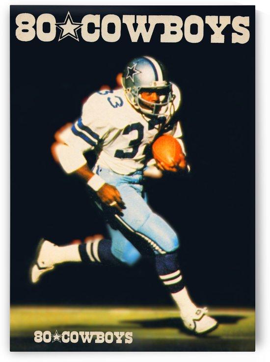 1980 dallas cowboys tony dorsett poster by Row One Brand
