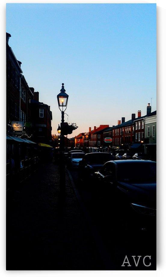 Main Street Newburyport by Angelina V Coronado