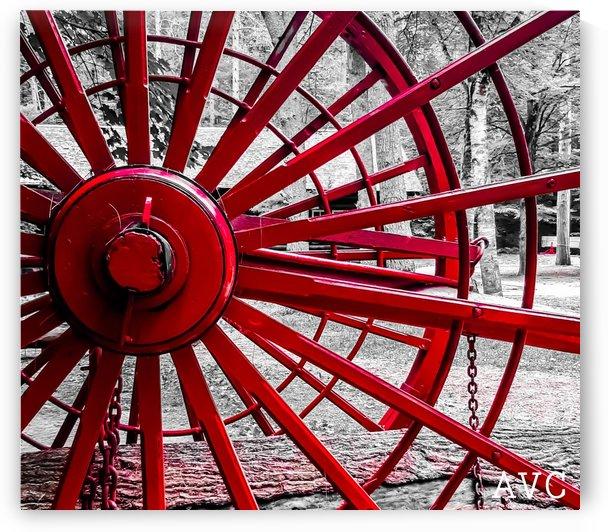 Wagon Wheel by Angelina V Coronado