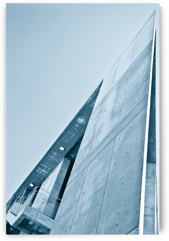 Blue Architecture and Sky by David Pinter