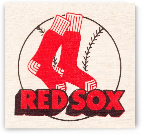 vintage boston red sox art wood print by Row One Brand