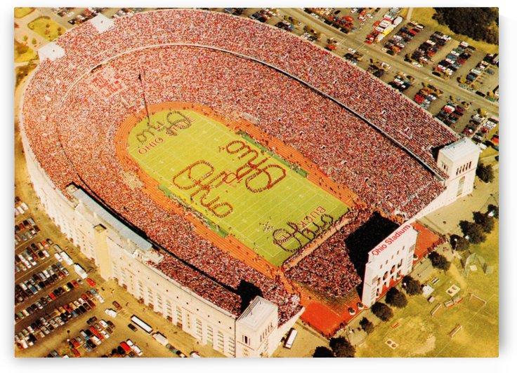 1988 ohio stadium buckeye football gameday aerial photo by Row One Brand