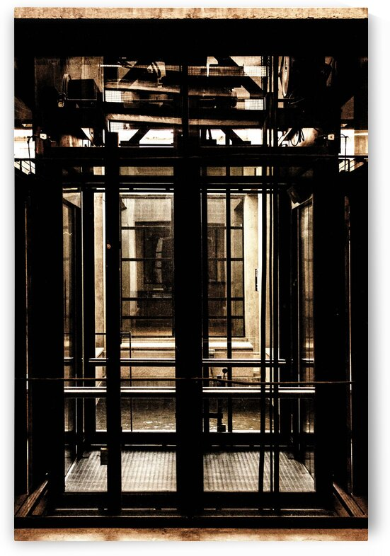 Elevator Platform with Glass by David Pinter