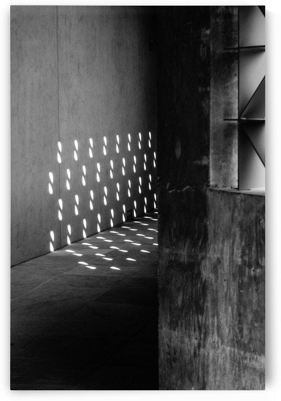 Light Pattern Cast on Concrete by David Pinter
