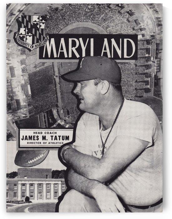 1953 maryland football coach jim tatum by Row One Brand