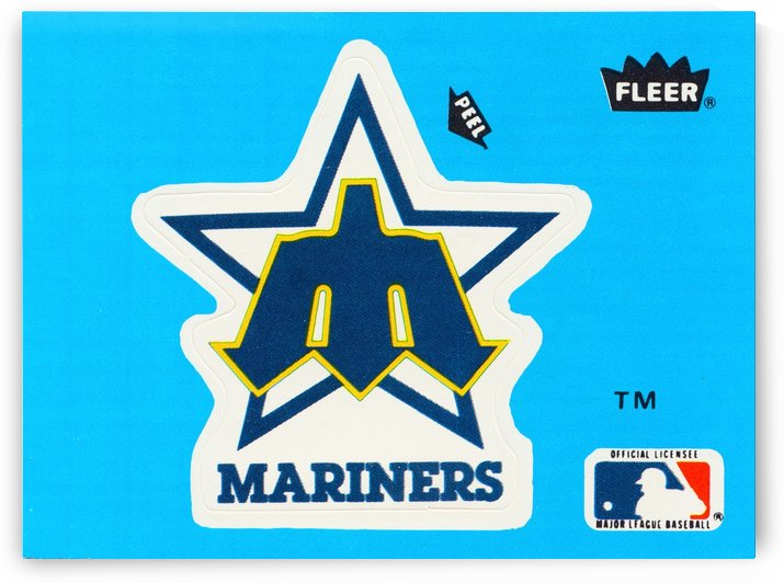1982 fleer sticker seattle mariners reproduction art by Row One Brand
