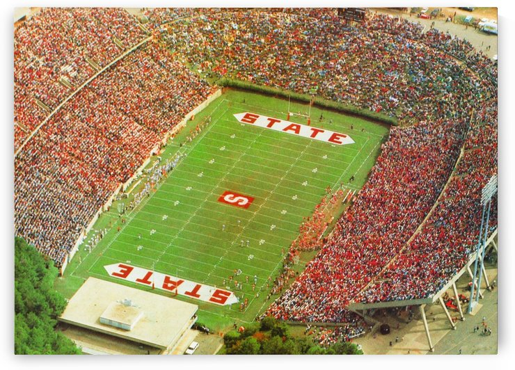 1985 nc state wolfpack carter finley stadium raleigh north carolina college football aerial photo by Row One Brand