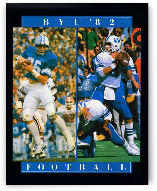 1982 byu football steve young poster by Row One Brand