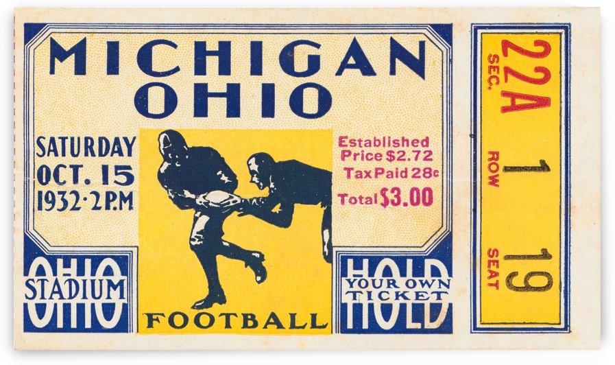 1932 Ohio State vs. Michigan by Row One Brand