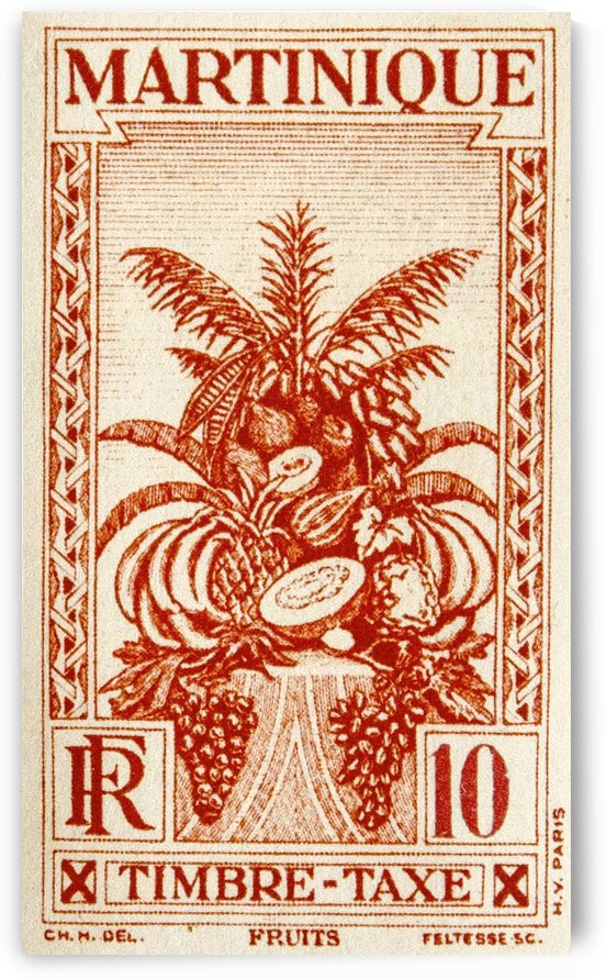 Stamp Martinique by David Pinter