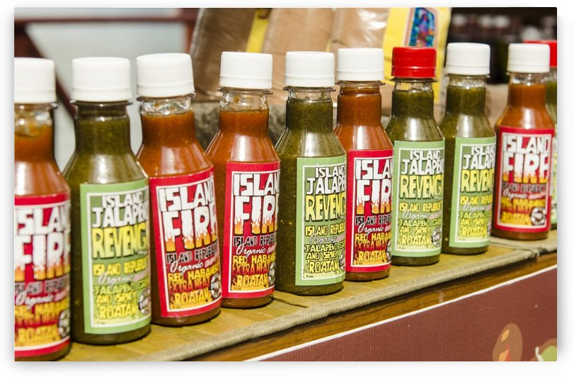 Island Fire Hot Sauce by David Pinter