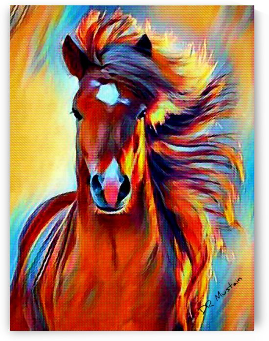 DR Mustain: Horse Fantasy -Abstract Realism Horse Art HD 300ppi  by Stock Photography