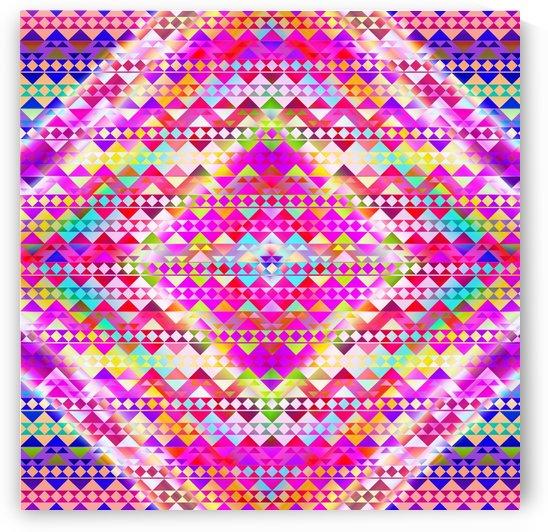Mayan Pattern Pink by CvetiArt