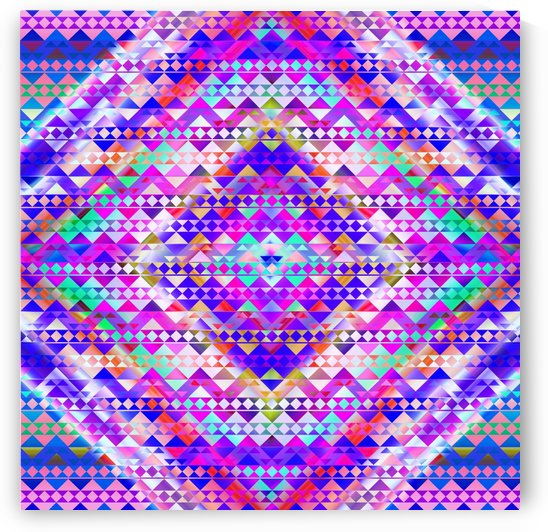 Mayan Pattern Blue by CvetiArt