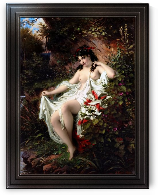 Spring In The Woods by Anton Ebert Classical Fine Art Reproduction by xzendor7