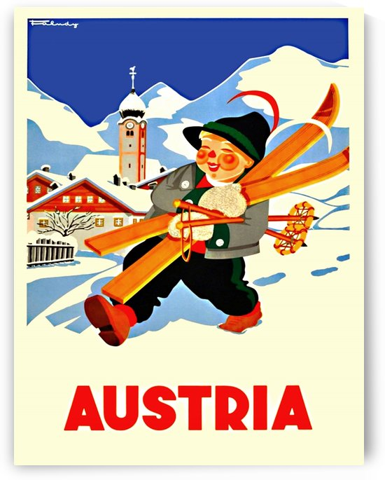 Little Skier from Austria by vintagesupreme