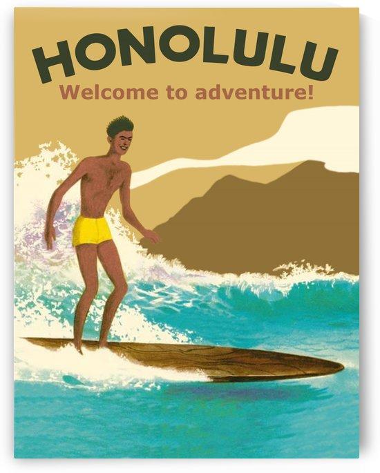 Surfing in Honolulu by vintagesupreme