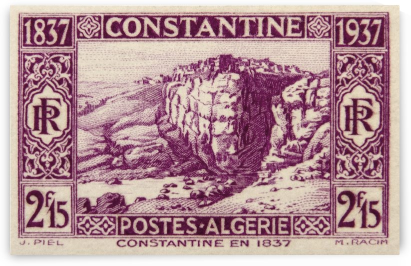 Algerie - Constantine Stamp by David Pinter