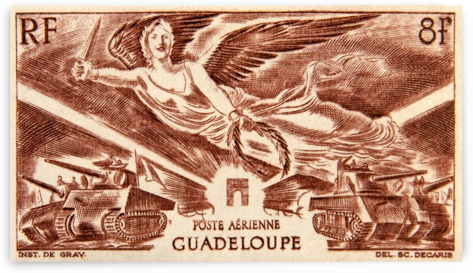 Guadeloupe Stamp by David Pinter