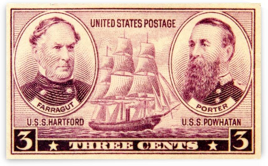 U. S. S. Hartford Stamp by David Pinter
