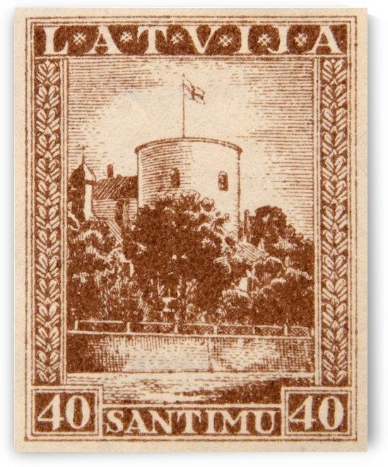 Latvia 1 Stamp by David Pinter