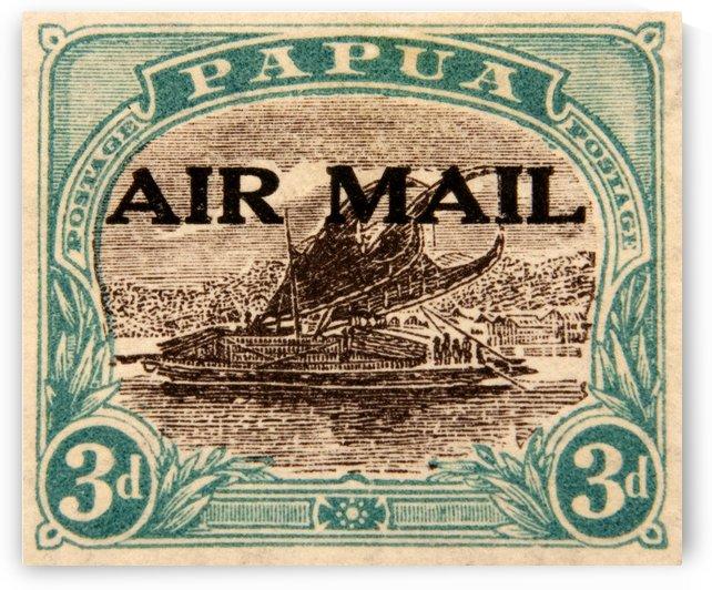 Papua Stamp by David Pinter