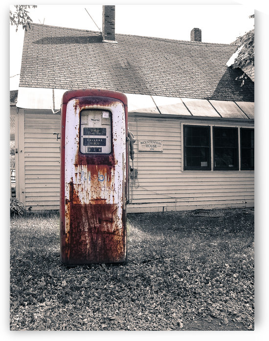 Vintage Gas Station Pump by David Pinter