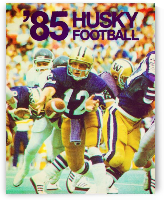 1985 washington husky football poster by Row One Brand