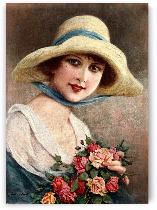 A Beautiful Elegant Lady With Bouquet Of Roses 2_OSG.Jpeg by One Simple Gallery