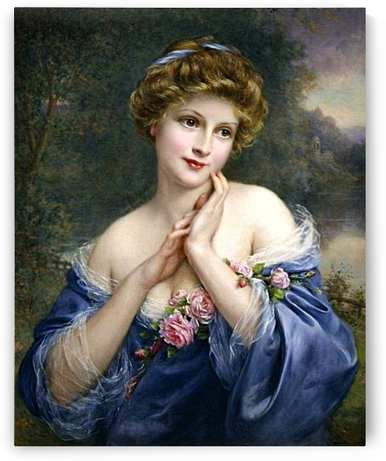 A Beautiful Elegant Lady in Blue With Rose Corsage _OSG by One Simple Gallery