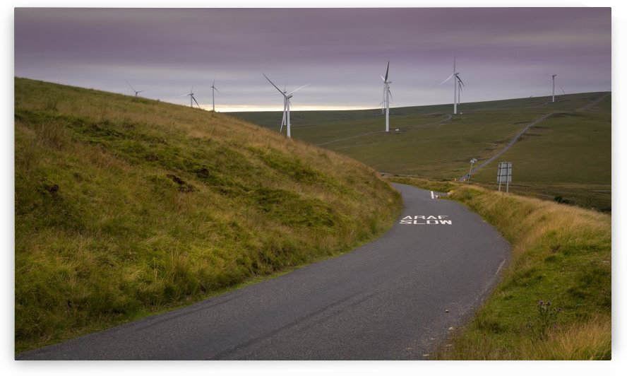 Wind turbines in South Wales by Leighton Collins