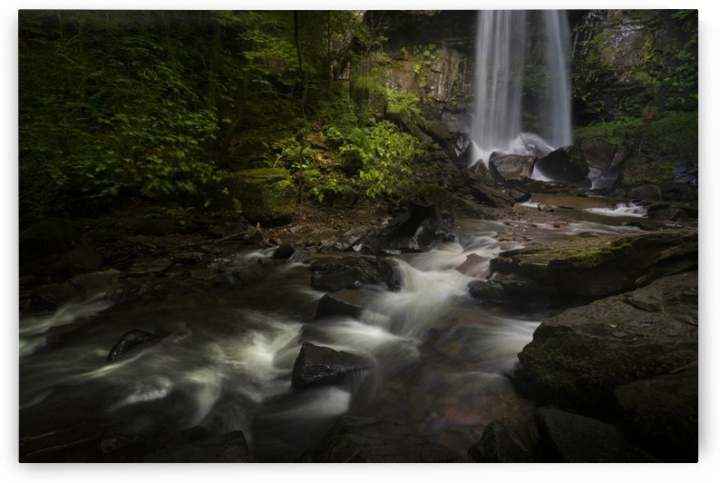 Melincourt waterfall in Resolven South Wales by Leighton Collins