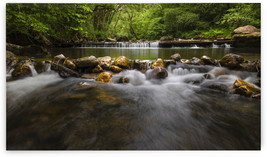 The Afon Twrch river at Cwmllynfell by Leighton Collins