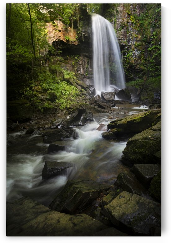 Moody Melincourt waterfall in South Wales by Leighton Collins
