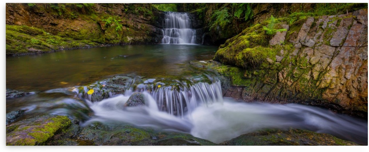 Dinas Rock waterfall by Leighton Collins