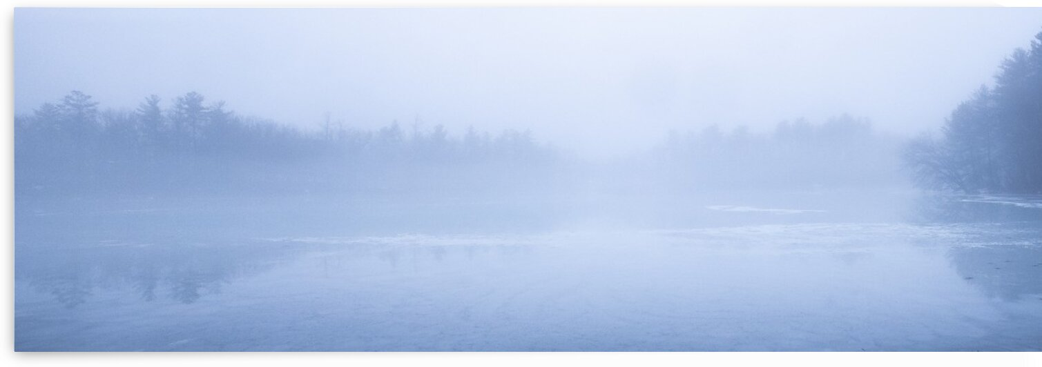 Fog on Mill Pond by Dave Therrien