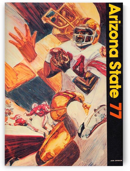 1977 arizona state football john jefferson art by Row One Brand