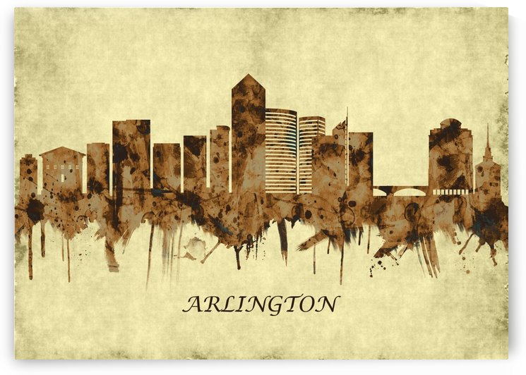 Arlington Texas Cityscape by Towseef
